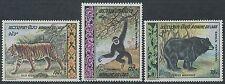 LAOS PA N°59/61** Animaux: Ours, singe, tigre, TB, 1969, Bear, monkey, tiger MNH
