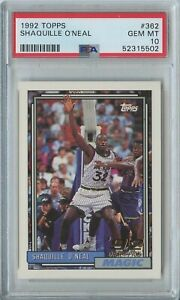 Shaquille O'Neal 1992 93 Topps basketball #362 Orlando Magic RC rookie PSA 10