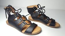 size 5 Tommy Hilfiger Beautie Lace Up Black Gladiator Sandals Womens Shoes