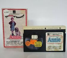 Annie The Movie of Tomorrow, RCA Columbia Pictures-Betamax, not VHS