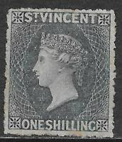 St Vincent stamps 1863 SG 9 P.14  MLH  VF  Scarce stamp!