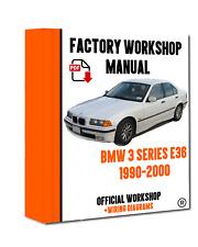 OFFICIAL WORKSHOP Manual Service Repair BMW Series 3 E36 1990 - 2000