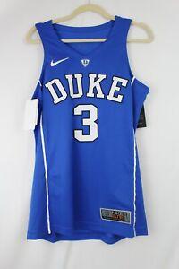 NIKE ELITE DUKE BLUE DEVILS #3 Authentic Stitched Mens Basketball Jersey SZ S