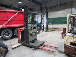 "Raymond Order picker forklift 3000 pound lift 240"" lift height 36 volt 3 stage"