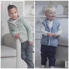 KNITTING PATTERN Childrens Hooded Jumper and Waistcoat Comfort DK King Cole 5107