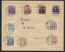 Poland covers 1919 mixed franked cover Kalisz to Posen
