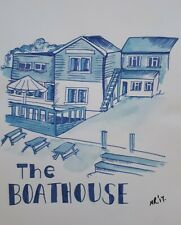 Original Ink Illustration 'The Boat house ' by Michelle Ranson