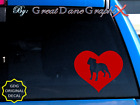Staffordshire Bull Terrier in HEART -Vinyl Decal Sticker -Color Choice-HIGH QLTY
