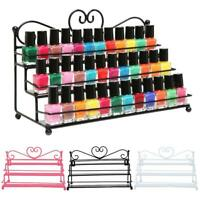 3 Layer Heart Nail Polish Shelf Cosmetic Display Stand Holder Rack Organizer