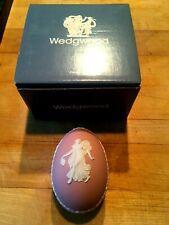 """Wedgwood Rare PINK Jasperware  Dancing Hours 3"""" Egg Box Lid & Original Box NEW!"""
