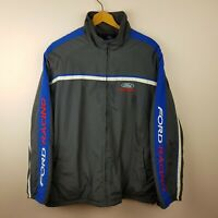 Ford Racing Jacket Mens Size M Fleece Lined