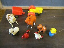 Fisher Price Little People Play Family Farm Barn 915 Cow Horse tractor Farmer