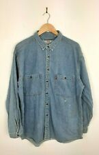 Mens Levis Blue Vintage Oversized Long Sleeve Denim Shirt Size XL