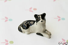 Ceramic Sitting Collie Sheepdog Dogs Ornaments Collectable Animal Figurine
