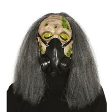 GAS MASK WITH HAIR FANCY DRESS HALLOWEEN OUTFIT ACCESSORY