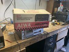 Aiwa Ad-l300 L300 Working Cassette Deck In Original Box Tested Free Shipping