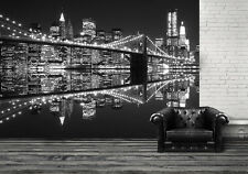 Giant size wallpaper mural for bedroom  & living room walls New York City night