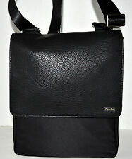 Calvin Klein Cotton Nyloncity Bag Handbag Purse Sac Black NWT