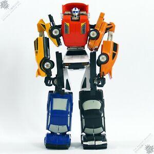BANDAI MACHINE ROBO PUZZLER GOBOTS TRANSFORMERS G1 VINTAGE GESTALT ROBOT JAPAN