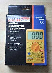 A New Sealey 19 Function Digital Multimeter. Model No. MM19