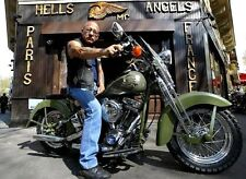 Hells Angels Boss Sonny Barger Personalized Bike Glossy 8.5x11 Photo HA-488