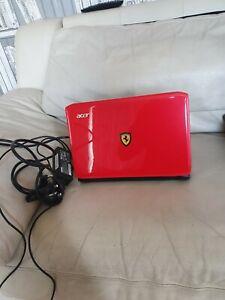 "Acer Ferrari One 200 11.6"" Netbook, 250HDD, Ubuntu OS + FAST & FREE UK 🇬🇧 POST"