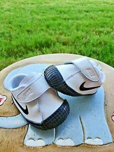 """Nike Waffle """"White/Black"""" Leather BRAND NEW Toddler 1C"""