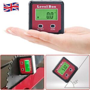 Magnetic Digital Inclinometer Level Box Gauge Angle Meter Finder Protractor UK