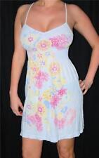 Sexy White Floral Easy Smocked Mini Sun Dress New Casual Beach Party Mini Dress