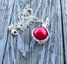 Final Fantasy 7 Necklace Red Materia Pendant Final Fantasy Jewelry Mako Necklace