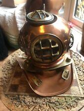 Vintage Antigua 6in Deep Sea Buceo Casco de latón de cobre Steampunk