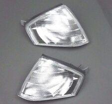 MERCEDES SL-CLASS R129 1989-2001 PAIR OF CLEAR FRONT INDICATOR LIGHT LAMP