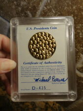 1776-1981 US PRESIDENTS COIN 24-Karat Gold Plated Certificate Authenticity PROOF