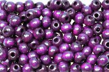 Holzperlen 10mm violett, glänzend, 500 Stück