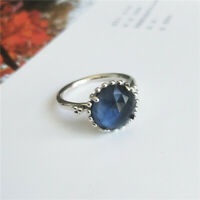 New 100% Authentic Silver Midnight Star Blue Crystal Ring Size 5 6 7 7.5 8.5