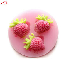 Silicone Strawberry Fondant Mold Cake Decorating Candy Chocolate Baking Mould