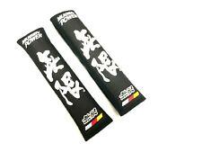 2Pcs jdm Mugen Power Black Soft Cotton Embroidery Seat Belt Cover Shoulder Pads