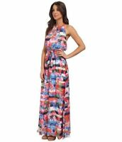 $168 Jessica Simpson Pink Floral Stripe Maxi Dress.SZ:10