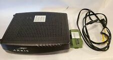 ARRIS Cable Telephony Modem Model TM822G w/ Battery Turns & Cord