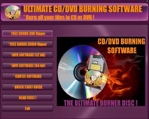 *ULTIMATE CD/ DVD BURNER / BURNING SOFTWARE,WITH FREE BONUS DVD& CD RIPPERS!!