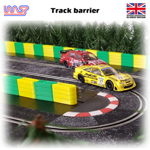 WASP - 3D printed Slot car track barrier 12 pack, scenery, track side
