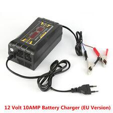 12V 10A AMP 20~150ah Smart Car Motorcycle Battery Charger LCD Display EU Version