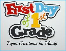 CRAFTECAFE MINDY 1ST FIRST GRADE SCHOOL premade paper piecing TITLE scrapbook