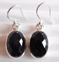 4.70 Gm Natural Black Onyx Earring Gemstone Onyx 925 Solid Sterling Silver K1605