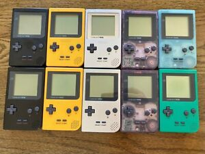 Gameboy Pocket x 10 Job Lot For Spares As IS Untested - Game Boy - Ice Blue
