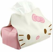 1x Cute Hello Kitty Leather Tissue Paper Box Kleenex Cover Holder for Car Desk