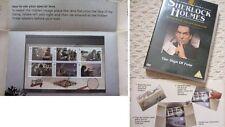 SHERLOCK HOLMES STORY, SPECIAL LENS, ALDERNEY MINT STAMPS plus SIGN OF FOUR DVD