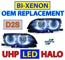DEPO UHP LED Angel Eye HID D2S Headlight For 02-06 BMW E46 M3 OEM Bi-Xenon Model