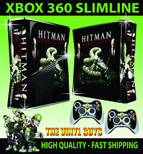 XBOX 360 SLIM HITMAN SNAKE AGENT NEW CONSOLE SKIN & 2 PAD SKINS