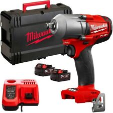 "Milwaukee M18FMTIWF12-502X 18v 1/2"" Impact Wrench+2x5Ah Batteries Charger & Case"